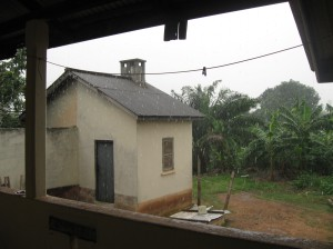 Daily rain storm from our porch! You can hear and feel it coming a long ways away.