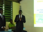 Albert presenting his group`s business at the first national agribusiness competition in Damongo, March 2013.