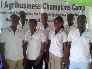 Students competing in the National Agribusiness Competition.